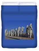 Statues On Facade Of St Peters Duvet Cover