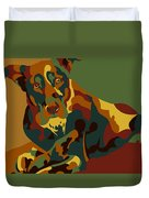 Stay Brown Duvet Cover