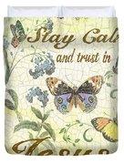 Stay Calm-trust In Jesus-2 Duvet Cover