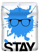 Stay Focused Splatter Poster 2 Duvet Cover