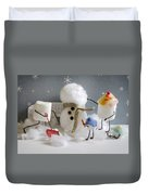 Stay Puff Snowman Duvet Cover