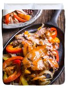Steak Fajitas Duvet Cover