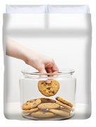 Stealing Cookies From The Cookie Jar Duvet Cover