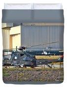 Stealth Air Attack Helicopter Duvet Cover