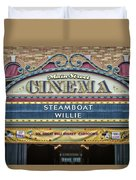 Steam Boat Willie Signage Main Street Disneyland 01 Duvet Cover