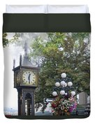 Steam Clock At Gastown In Vancouver Bc Duvet Cover