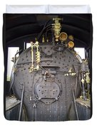 Steam Engine 444 Fire Box And The Controls Duvet Cover