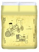 Steam Engine Patent 1869 Duvet Cover