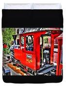 Steam Locomotive Old West V2 Duvet Cover