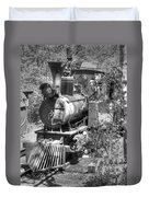 Steam Locomotive Old West V3 Duvet Cover