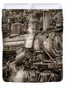 Steam Power Sepia Duvet Cover