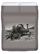 Steam Tractor - Molson Ghost Town Duvet Cover by Daniel Hagerman
