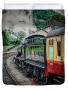 Steam Train 3802 Duvet Cover by Adrian Evans