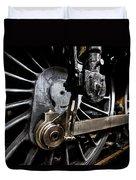 Steam Train Wheels Close Up Duvet Cover