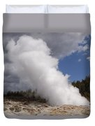 Steamboat Geyser Yellowstone Np Duvet Cover