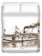 Steamboat Reliance Sepia Duvet Cover