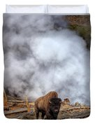 Steamed Bison Duvet Cover