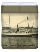 Steamer Eureka At Old Whaf Santa Cruz California Circa 1907 Duvet Cover
