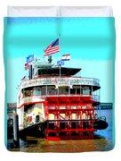 Steamer Natchez Paddleboat Duvet Cover