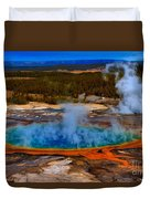 Steaming Rainbow Duvet Cover