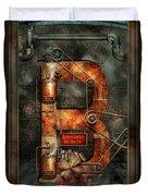 Steampunk - Alphabet - B Is For Belts Duvet Cover
