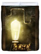 Steampunk - Alphabet - L Is For Light Bulb Duvet Cover