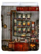 Steampunk - Coffee - The Company Coffee Maker Duvet Cover