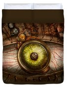 Steampunk - Creepy - Eye On Technology  Duvet Cover