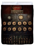 Steampunk - Electrical - Center Of Power Duvet Cover