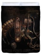 Steampunk - Electrical - Rotary Switch Duvet Cover by Mike Savad