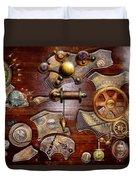 Steampunk - Gears - Reverse Engineering Duvet Cover