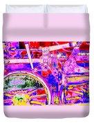 Steampunk Iron Horse #4 A Duvet Cover