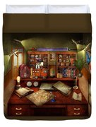Steampunk - My Busy Study Duvet Cover