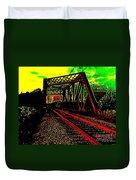 Steampunk Railroad Truss Bridge Duvet Cover