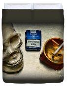 Steampunk Smoking Break Duvet Cover