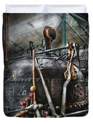 Steampunk - The Steam Engine Duvet Cover