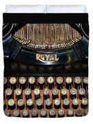 Steampunk - Typewriter -the Royal Duvet Cover