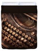 Steampunk - Typewriter - Too Tuckered To Type Duvet Cover