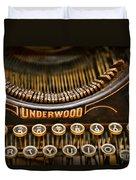 Steampunk - Typewriter - Underwood Duvet Cover