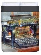 Steampunk - Vintage Typewriter Duvet Cover