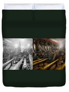 Steampunk - War - We Are Ready - Side By Side Duvet Cover