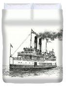 Steamship Tacoma Duvet Cover