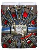 Stearman Engine Duvet Cover