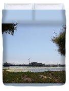 Stearns Wharf Santa Barbara Duvet Cover