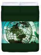 Steel Globe At The Trump International Duvet Cover