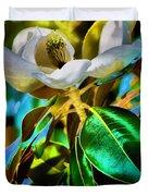 Steel Magnolia Duvet Cover