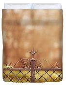 Steel Ornamented Fence Duvet Cover