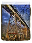 Steel Strong Rr Bridge Over The Yellow River Duvet Cover