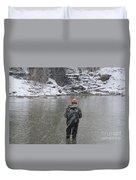 Steelhead Fishing Duvet Cover