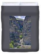 Steep Cliffs With Railroad Track Art Prints Duvet Cover